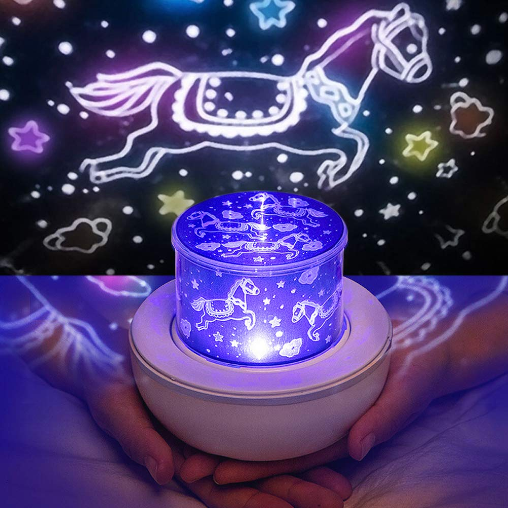 Led romantic music smart charging night light