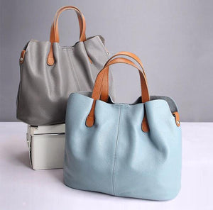 Hot-Sell ! Two In One Leather Shopper Tote Bag
