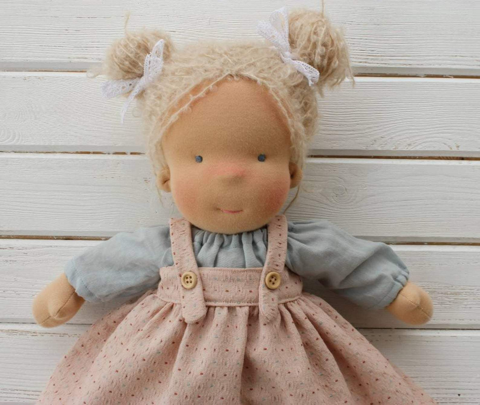 Liberty Dress For Waldorf Doll - Doll Clothing #21