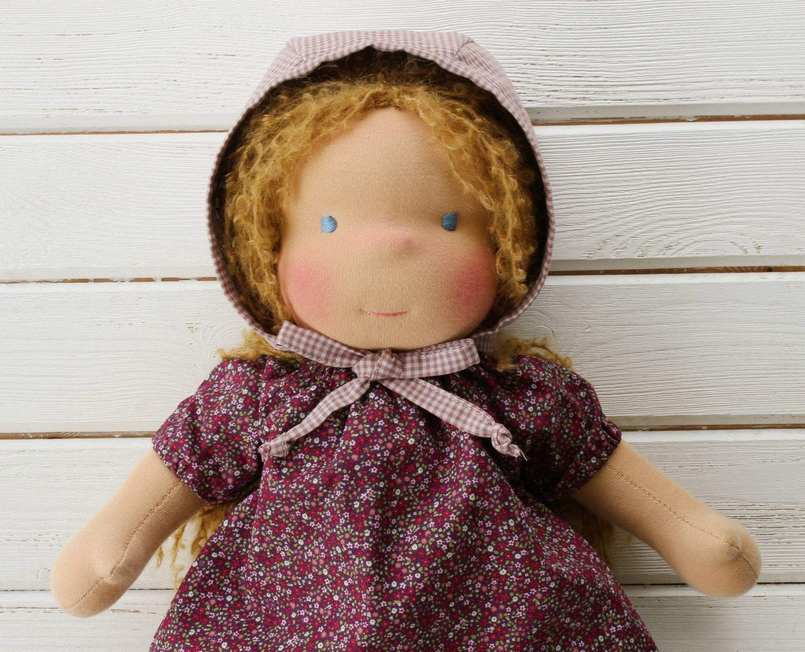 Liberty Dress For Waldorf Doll - Doll Clothing #20