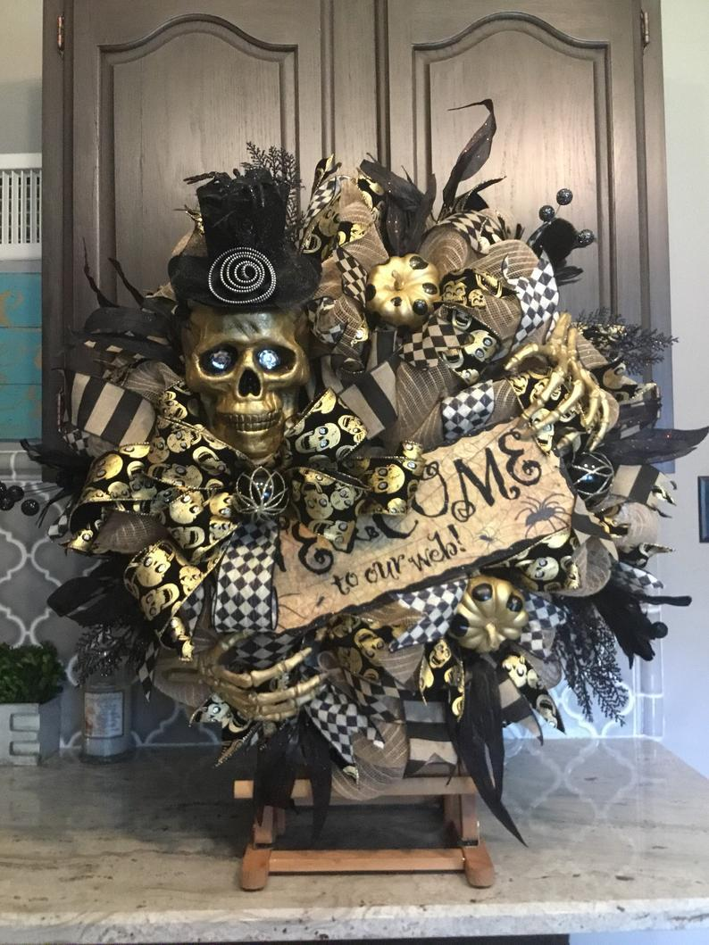 Skeleton Swag-Steam Punk Wreath