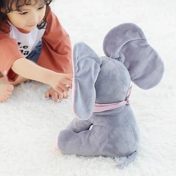 🔥 Best Selling 🔥Baby Peek A Boo Animated Singing Elephant Flappy Plush Toy