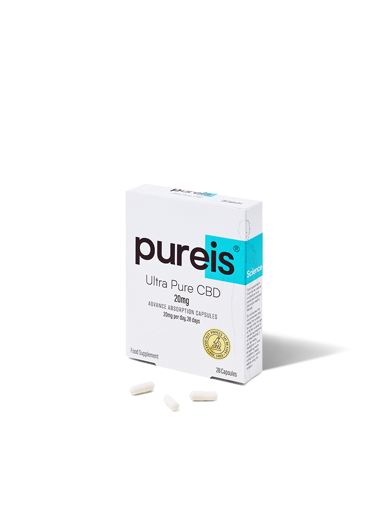 Pureis CBD® are suppliers of fast absorbing Ultra Pure CBD Capsules.