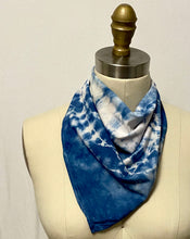 Load image into Gallery viewer, Cumulus Clouds Shibori Tie Dye Bandana