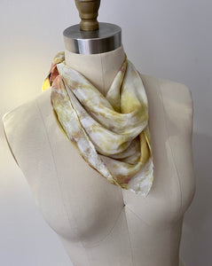 Topaz and Rose Shibori Silk Bandana