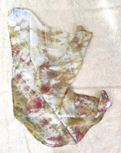 Load image into Gallery viewer, Topaz and Rose Shibori Silk Bandana