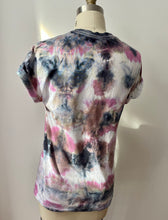 Load image into Gallery viewer, Pink Black Shibori Tie Dye Tee