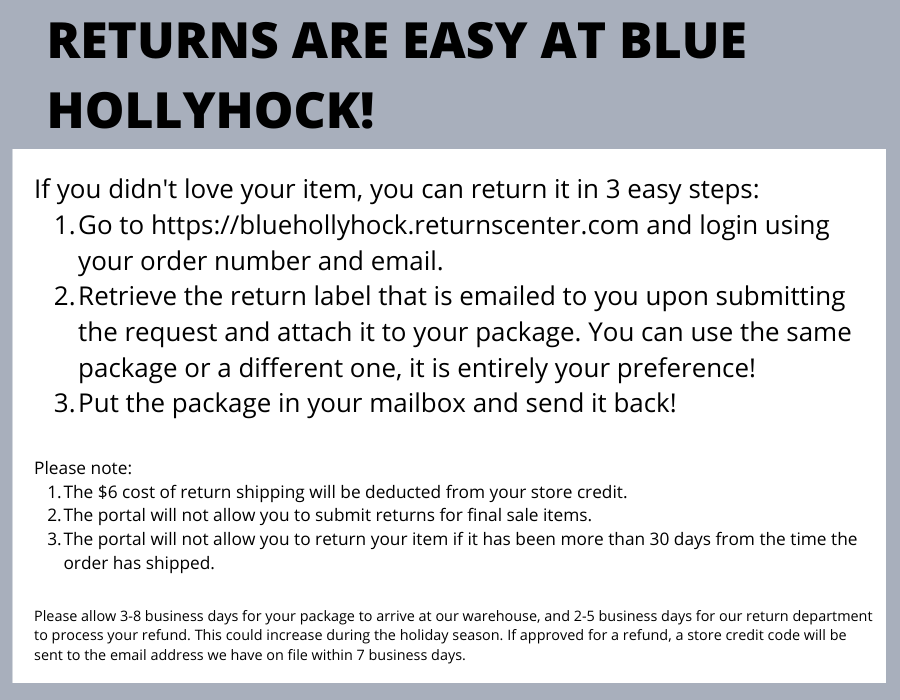 Return Instructions