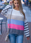Best Behavior Color Block Sweater Grey
