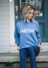 Blessed Graphic Sweatshirt Denim