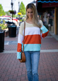 Eye On The Bright Side Color Block Sweater