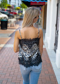 Forever Yours Animal Print Lace Tank
