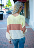 Go Anywhere With You Color Block Sweater Yellow