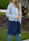 Hold Every Memory Color Block Cardigan Navy