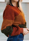 Let's Get Cozy Color Block Sherpa Sweater
