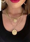 MAKE MY DAY LAYERED COIN NECKLACE GOLD