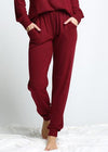 STAY COZY BURGUNDY JOGGERS SALE