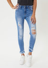 THE KATIE DISTRESSED JEANS - LIGHT WASH