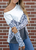 TRUE TO YOURSELF LEOPARD BLOUSE
