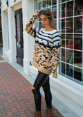 WILD FOR YOU MOCHA ANIMAL PRINT SWEATER SALE