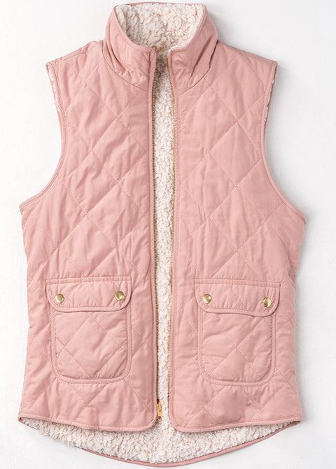WISHING FOR SNOW REVERSIBLE PUFFER VEST SALE
