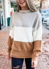 STORY FOR TOMORROW COLOR BLOCK SWEATER