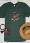 CHEETAH SNOWFLAKE GRAPHIC TEE OLIVE