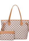 Stay Classy Checkered Tote Bag