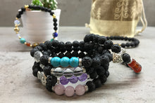 Load image into Gallery viewer, Lava Stone Bracelet - Buddha Chakra