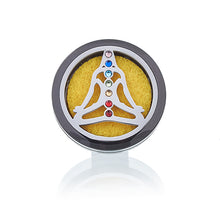 Load image into Gallery viewer, Car Diffuser Kit - Pewter Yoga Chakra - 30mm