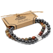 Load image into Gallery viewer, Magnetic Gemstone Bracelet - Picasso Jasper