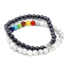 Load image into Gallery viewer, Magnetic Gemstone Bracelet - White Howlite Chakra