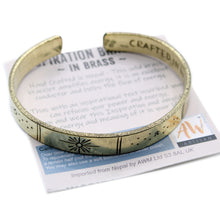 Load image into Gallery viewer, Inspiration Bracelet - Brass Snrise, Galaxy, Stars, Earth