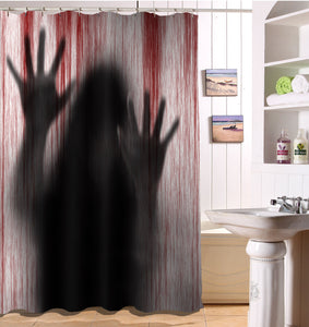 3D Printed Halloween Bathroom Curtains