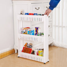 Load image into Gallery viewer, Multi-functional  3 Layer Plastic Storage Rack White