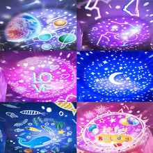 Load image into Gallery viewer, Star projector  rotating night lamp for children