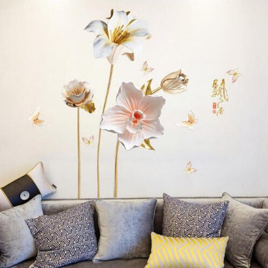 Flower 3D Wallpaper Wall Stickers Decor - Giftexonline