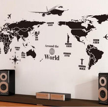 Load image into Gallery viewer, World Map Wall Stickers