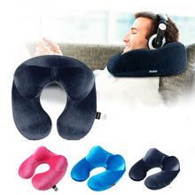 Load image into Gallery viewer, U-Shape Travel Pillow for Airplane Inflatable Neck Pillow Travel Accessories 4Colors Comfortable Pillows for Sleep Home Textile