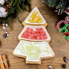 Load image into Gallery viewer, Christmas Tree Ceramic Plates set of 4 - Giftexonline
