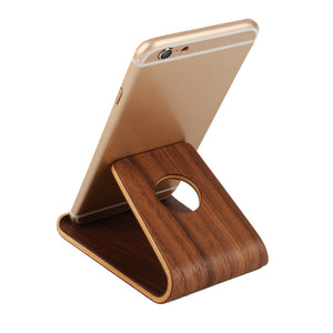 Universal Wooden Bamboo Mobile Phone Stand Holder