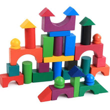 Load image into Gallery viewer, Great set of wood  building blocks 112 PCS