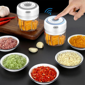 Electric Garlic Masher Press Mincer Vegetable Chili Meat Grinder Food Chopper 100/250ml