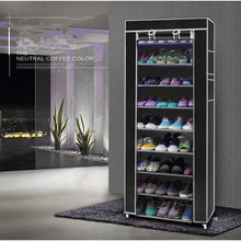 Load image into Gallery viewer, Fashionable Non-woven Fabric Shoe Rack Black