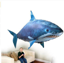 Load image into Gallery viewer, RC Flying Shark Toy Clown Fish Radio Air Swimmer Balloons Inflatable Helium Fish plane RC Helicopter Robot Gift For Kids