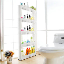 Load image into Gallery viewer, 5 Tier Mobile shelving unit great for Bathroom or Kitchen