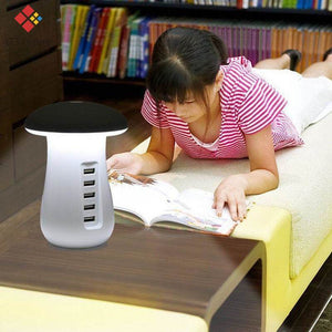Family USB fast charging  station  and reading light (UK and EU plug) - Giftexonline