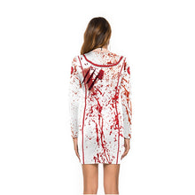 Load image into Gallery viewer, Bloody nurse Halloween costume
