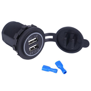 Universal car powerful charger with metal insert