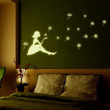 Load image into Gallery viewer, Dandelion glow in the dark stickers - Giftexonline
